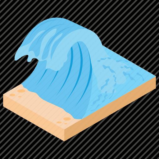 ocean, river, sea, water, waterfall icon