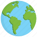 earth, ecology, globe, planet, world map icon