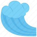 beach wave, sea, sea wave, water wave, waves icon