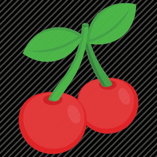 berries, berry fruit, cherries, food, fruit icon