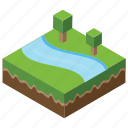 agriculture, island, landscape, nature, scenery icon