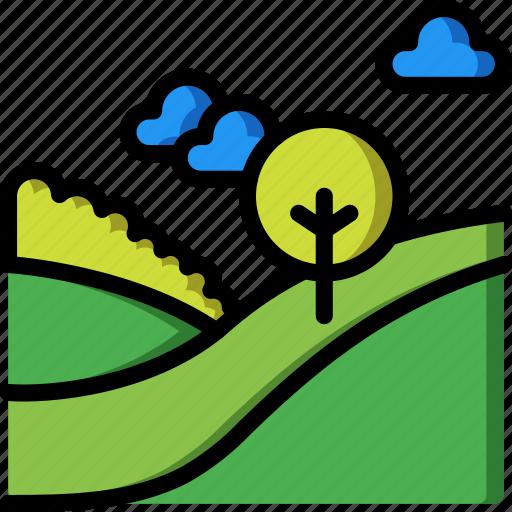 landscape, nature, summer icon