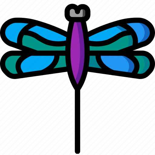 dragon, fly, nature, summer icon