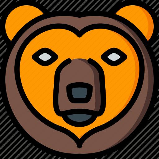 bear, nature, summer icon