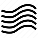 black, blue, element, water icon, wave, wind icon icon