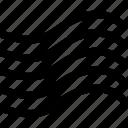black, element, wave, wind icon icon