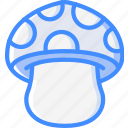 mushroom, nature, summer icon