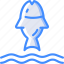 fish, nature, summer icon