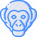 monkey, nature, summer icon