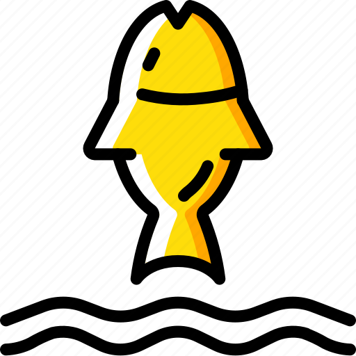 fish, nature, summer icon
