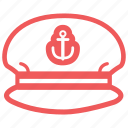 boss, captain, chief, hat, marine, nautical, sailor man, ship, shipmaster icon