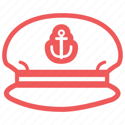 boss, captain, chief, hat, marine, nautical, sailor man, ship, shipmaster icon