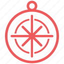 compass, direction, map, marine, nautical, navigate, navigation icon