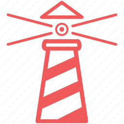 alert, attention, direction, guide, light, lighthouse, nautical, navigation, sea, warning icon