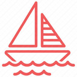 boat, marine, nautical, ocean, sail, sailing, sea, ship, transportation, travel, wave icon