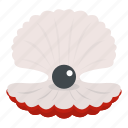 beautiful, nature, ocean, pearl, sea, seashell, shell icon