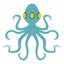 animal, marine, nature, ocean, octopus, tentacle, wild icon