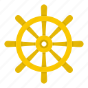 boat, direction, nautical, rudder, ship, vessel, wheel icon
