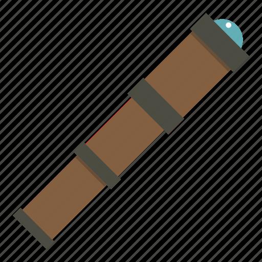 instrument, optical, retro, scope, spyglass, telescope, tube icon