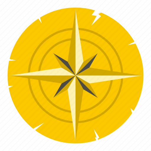 ancient, antique, compass, journey, north, old, west icon