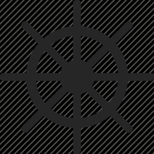 ships wheel, steering, steering wheel, wheel icon