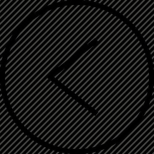 back, backwards, left, menu icon