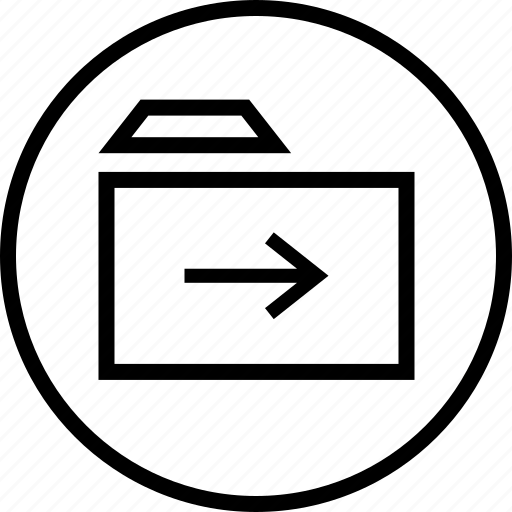 arrow, file, folder, save icon