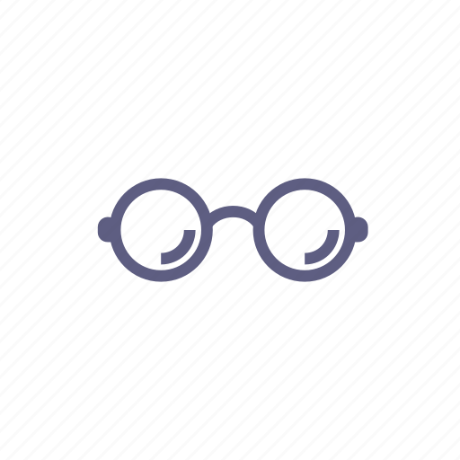 browse, discover, explore, glasses, review, search, show icon
