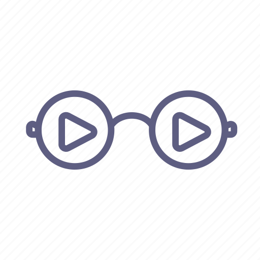 browse, discover, explore, glasses, research, review, search icon