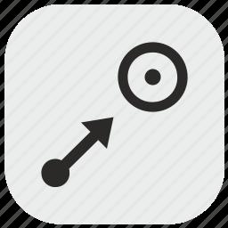 aim, arrow, data, goal, max, maximum, target icon