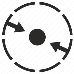 area, circle, min, minimum, round icon