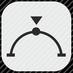 chart, curve, data, max, maximum, report icon