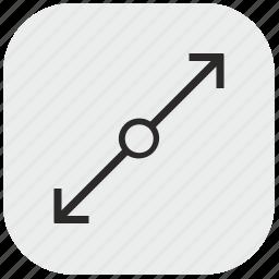 chart, data, diagonal, max, maximum, size icon