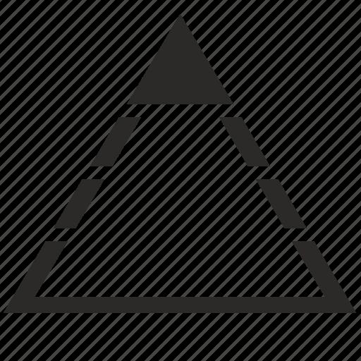 head, min, minimum, pyramid, triangle icon