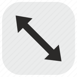 arrow, diagonal, max, maximum, size icon