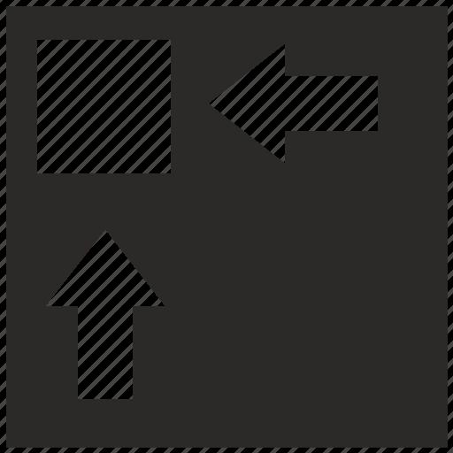 geometry, min, minimum, sqr, square icon