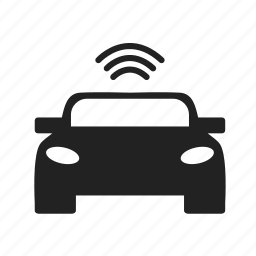 car, communication, location, signal, transmission icon