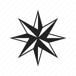 arrow, compass rose, direction, directions, down, left, location, right, up icon