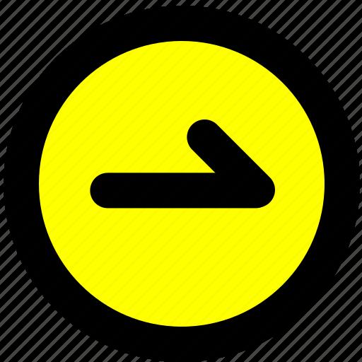 continue, navigation, next, toolbar icon