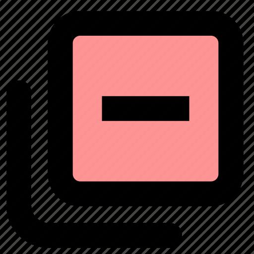 minimize, navigation, toolbar icon