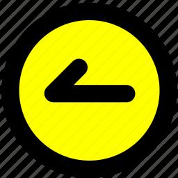 back, navigation, previous, toolbar icon