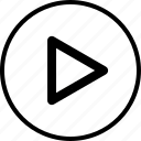 arrow, media, video, youtube icon