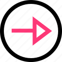 arrow, forward, go, next icon