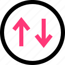 arrows, down, pointer, up icon