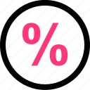 percent, percentage, rate icon