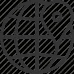 communication, globe, gps location, map, mobile, navigation, pin marker icon