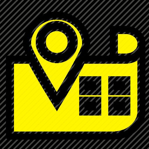 location, map, navigation icon