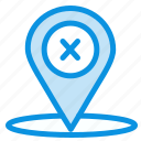 delete, location, navigation, place icon