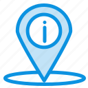 info, location, navigation, place icon