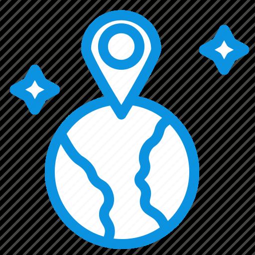 location, map, world icon